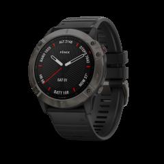 fēnix® 6X Sapphire, karbongrå DLC med sort rem