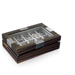 Heisse & Söhne Watch Box With Viewing Window Ebony