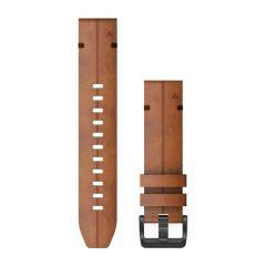 QuickFit® 22 mm Kastanjebrunt lær