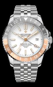 Meccaniche Veneziane Nereide GMT hvit/gull/grå med lenke