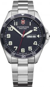 VICTORINOX FIELD FORCE 42 BLUE DIAL  BRACELET