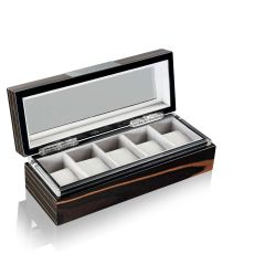 Heisse & Söhne Watch Box with viewing window Ebony 5