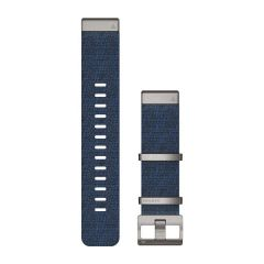 QuickFit® 22-klokkeremmer Jacquard-vevd nylonrem – Indigo