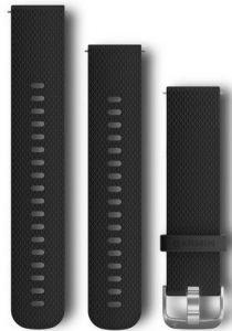 Garmin 20mm Sort silikonrem med hurtigkobling