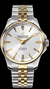 Meccaniche Veneziane Redentore 36mm gull/stål med lenke