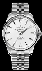 Meccaniche Veneziane Redentore 36mm stål/hvit med lenke