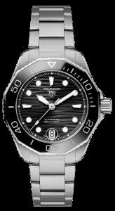 TAG Heuer Aquaracer Auto 300 Black dial, Bracelet, 43 mm, 300m